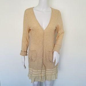 Anthropologie Moth Wool Blend Sweater Tunic Dress
